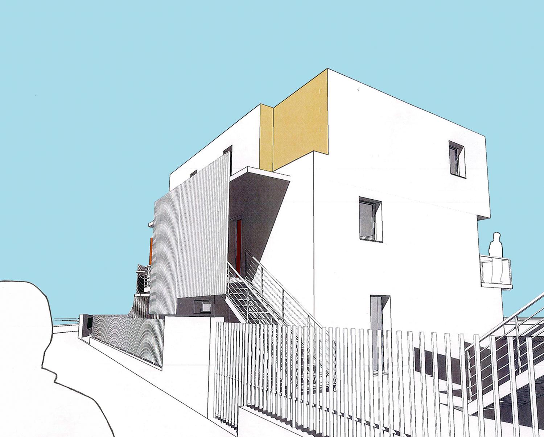 16-logements-sociaux-bbc icf-novedis-dijon-perspective-sur-rue-détail