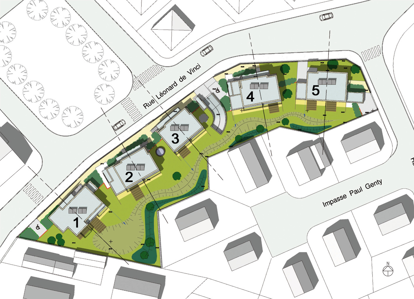 16-logements-sociaux-bbc icf-novedis-dijon--plan-masse