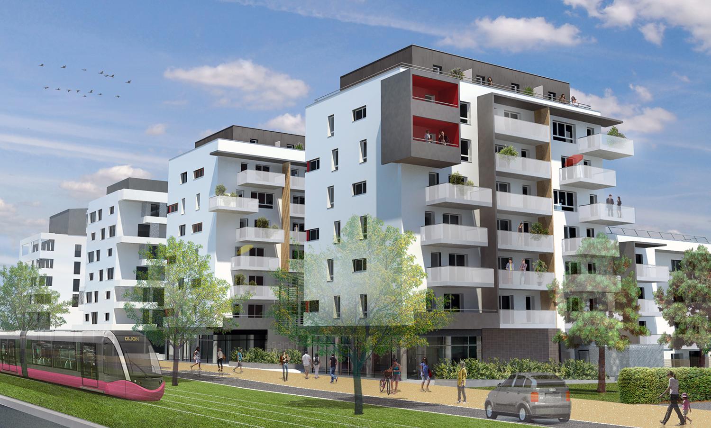 56-logements-sociaux-habellis-avenue-de-langres-dijon-villéo-perspective-sud-est