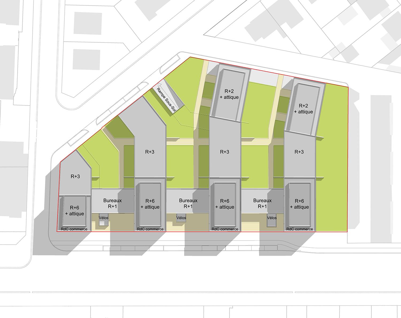 56-logements-sociaux-habellis-avenue-de-langres-dijon-villéo-plan-masse