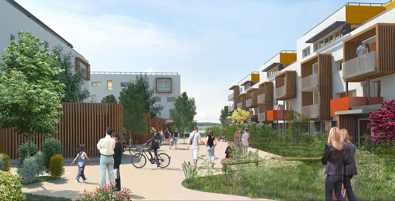 70-logements-sociaux-bepos-orvitis-marsannay-la-cote-perspective-parvis