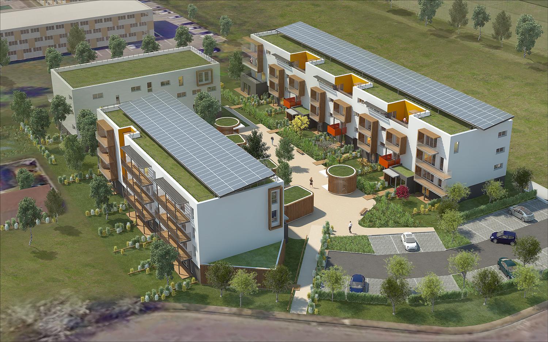 70-logements-sociaux-bepos-orvitis-marsannay-la-cote-perspective-sud-est
