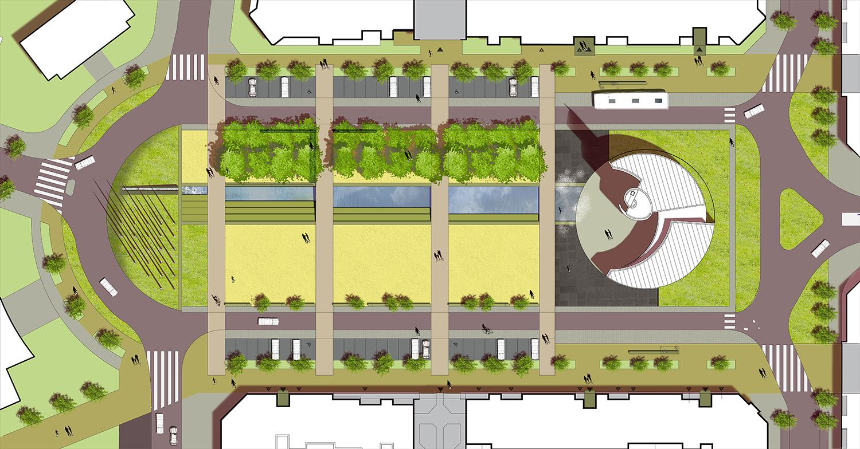 aménagement-place-granville-dijon-plan-masse
